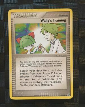 Wally's Training Uncommon Trainer Ex Emerald