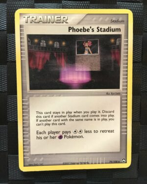 Phoebe's Stadium Uncommon Trainer Ex Power Keepers