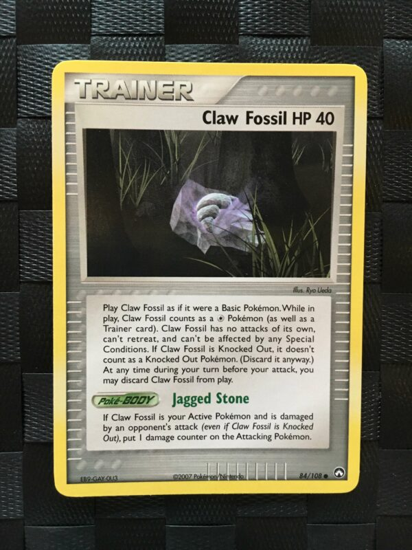 Claw Fossil HP 40 Common Trainer Ex Power Keepers